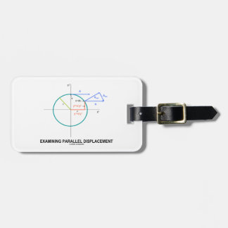 Examining Parallel Displacement Geometry Travel Bag Tag