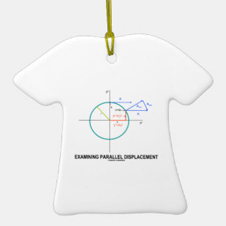 Examining Parallel Displacement (Geometry) Double-Sided T-Shirt Ceramic Christmas Ornament