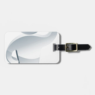 Examining with a magnifying glass tag for bags