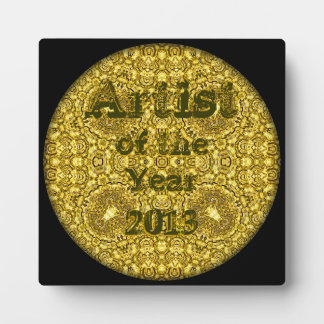 "Example - ""Artist of the Year 2013"" - ""Old Gold"" Display Plaque"
