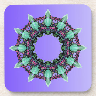 EXAMPLE ONLY COLOR gradients - violet Beverage Coaster
