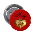 EXAMPLE: ONLY COLOR - red Pinback Button