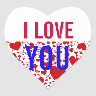 EXAMPLE: ONLY COLOR | white + your lovely text Heart Sticker
