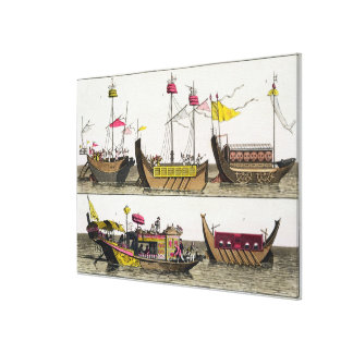 Examples of Chinese ships, illustration from 'Le C Canvas Print