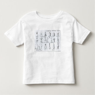 Examples of Topiary Work, 1902 (engraving) (b/w ph Toddler T-shirt