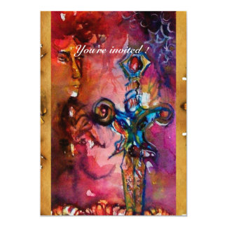 EXCALIBUR 1, bright red ,pink purple Card