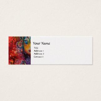 EXCALIBUR ,bright red ,pink blue metallic platinum Mini Business Card
