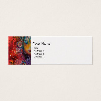 EXCALIBUR , bright red ,pink blue pearl paper Mini Business Card
