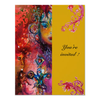 EXCALIBUR , bright red ,pink blue yiellow Card