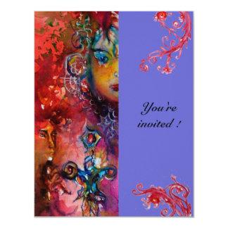 EXCALIBUR , bright red ,pink violet Card