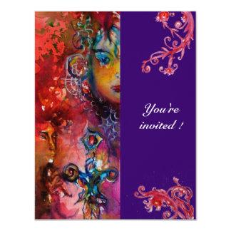 EXCALIBUR , bright red ,purple Card
