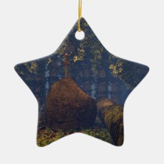 Excalibur Ceramic Ornament