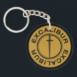 "Excalibur Classic Logo Keychain<br><div class=""desc"">Show off a little when you pull out the keys to your car,  even if it isn&#39;t an Excalibur!</div>"