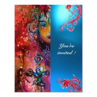 EXCALIBUR gem bright red ,pink blue orange blue Card