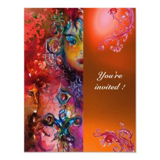 EXCALIBUR gem bright red ,pink blue orange Card