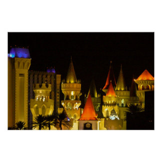 Excalibur Hotel and Casino at Night Print