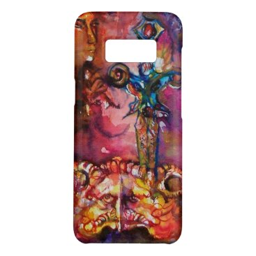Halloween Themed EXCALIBUR /MAGIC SWORD Fuchsia Red Yellow Fantasy Case-Mate Samsung Galaxy S8 Case