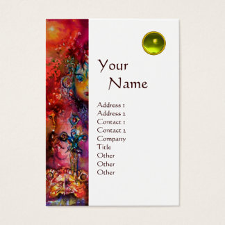 EXCALIBUR MONOGRAM metallic eggshell Business Card