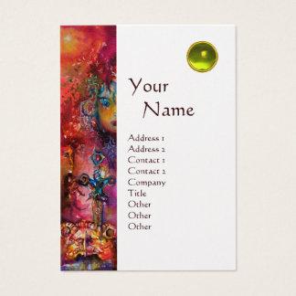 EXCALIBUR MONOGRAM metallic gold Business Card