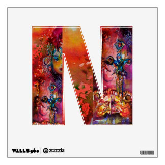 EXCALIBUR MONOGRAM N LETTER WALL GRAPHIC