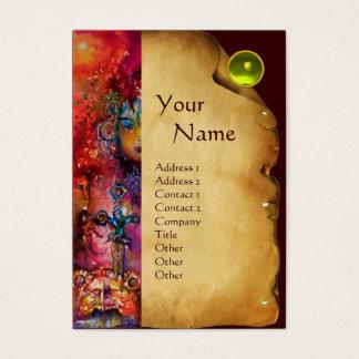 EXCALIBUR MONOGRAM Parchment, Yellow TopazGem Business Card