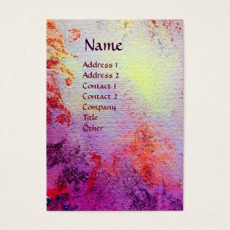 EXCALIBUR  MONOGRAM pink purple fuchsia red blue Business Card