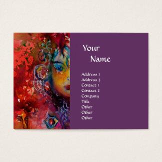 EXCALIBUR monogram purple fuchsia red blue pink Business Card