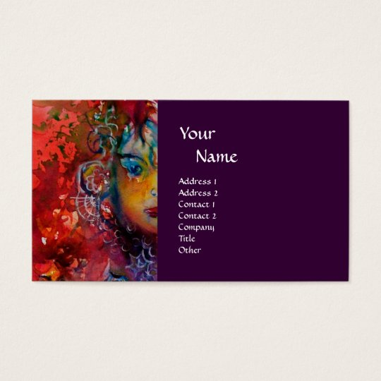 EXCALIBUR purple fuchsia blue red pink white Business Card
