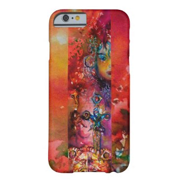 Halloween Themed EXCALIBUR /QUEEN OF MAGIC SWORD Red Yellow Fantasy Barely There iPhone 6 Case