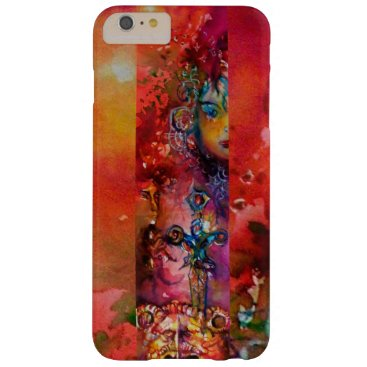 Halloween Themed EXCALIBUR /QUEEN OF MAGIC SWORD Red Yellow Fantasy Barely There iPhone 6 Plus Case