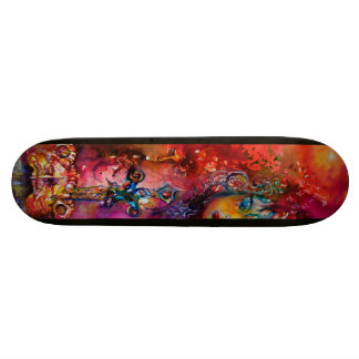EXCALIBUR ,red purple blue Skateboard Deck