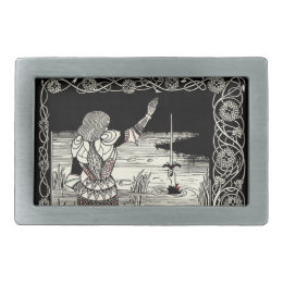 Excalibur Rising from  the Lake Belt Buckle
