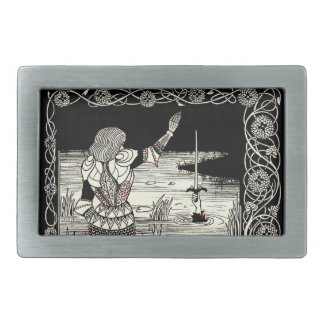 Excalibur Rising from  the Lake Belt Buckles