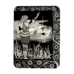 Excalibur Rising from  the Lake Rectangular Magnets