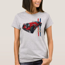 Excalibur Series SSK Red Roadster womens T-Shirt