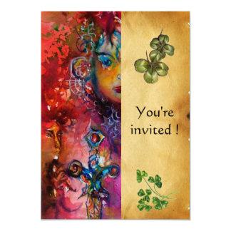EXCALIBUR ,St Patrick's Day Party ,parchment Card