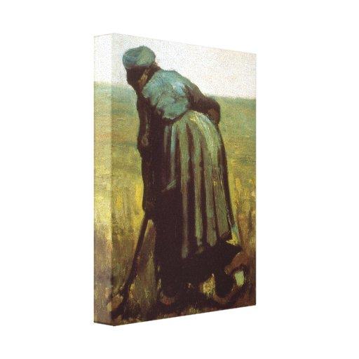 Excavación de Vincent van Gogh Impresión En Lona Estirada