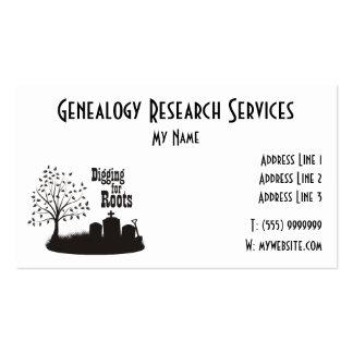 Excavación para la tarjeta de visita de las raíces