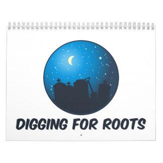 Excavación para las raíces 2015 calendarios