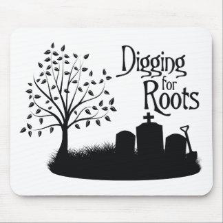 Excavación para las raíces alfombrilla de raton