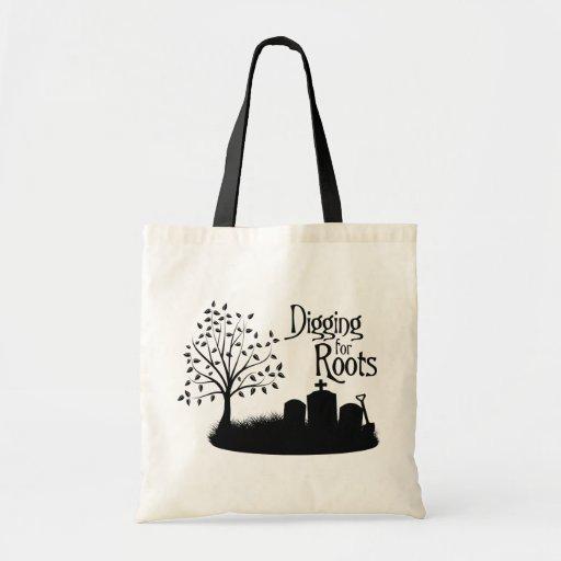 Excavación para las raíces bolsas