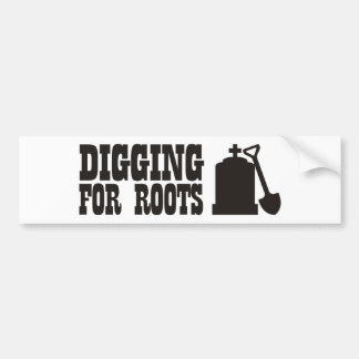 Excavación para las raíces etiqueta de parachoque