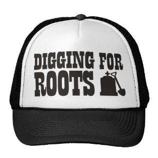 Excavación para las raíces gorro de camionero