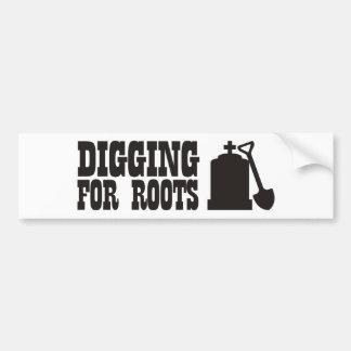 Excavación para las raíces pegatina para auto