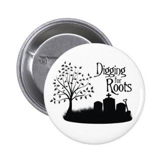 Excavación para las raíces pins