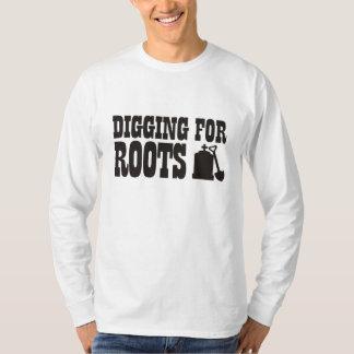 Excavación para las raíces playeras