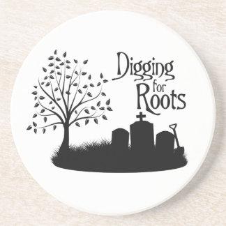 Excavación para las raíces posavaso para bebida
