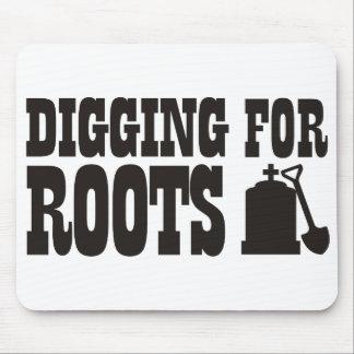 Excavación para las raíces tapete de raton