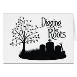 Excavación para las raíces tarjeton