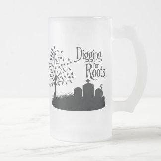 Excavación para las raíces taza